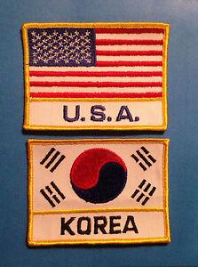 Vintage 1980/'s Tae Kwon Do Korea Flag Martial Arts MMA Uniform Patch free ship