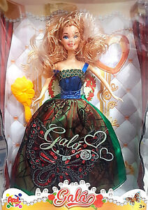 Gala-Girls-Bambola-tipo-Barbie-Vestito-Floreale-Apel-Plastick-Nuova