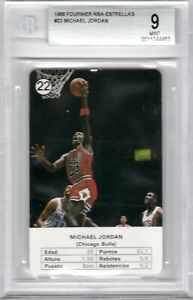 1988-Fournier-Estrellas-22-Michael-Jordan-Chicago-Bulls-HOF-MINT-BGS-9