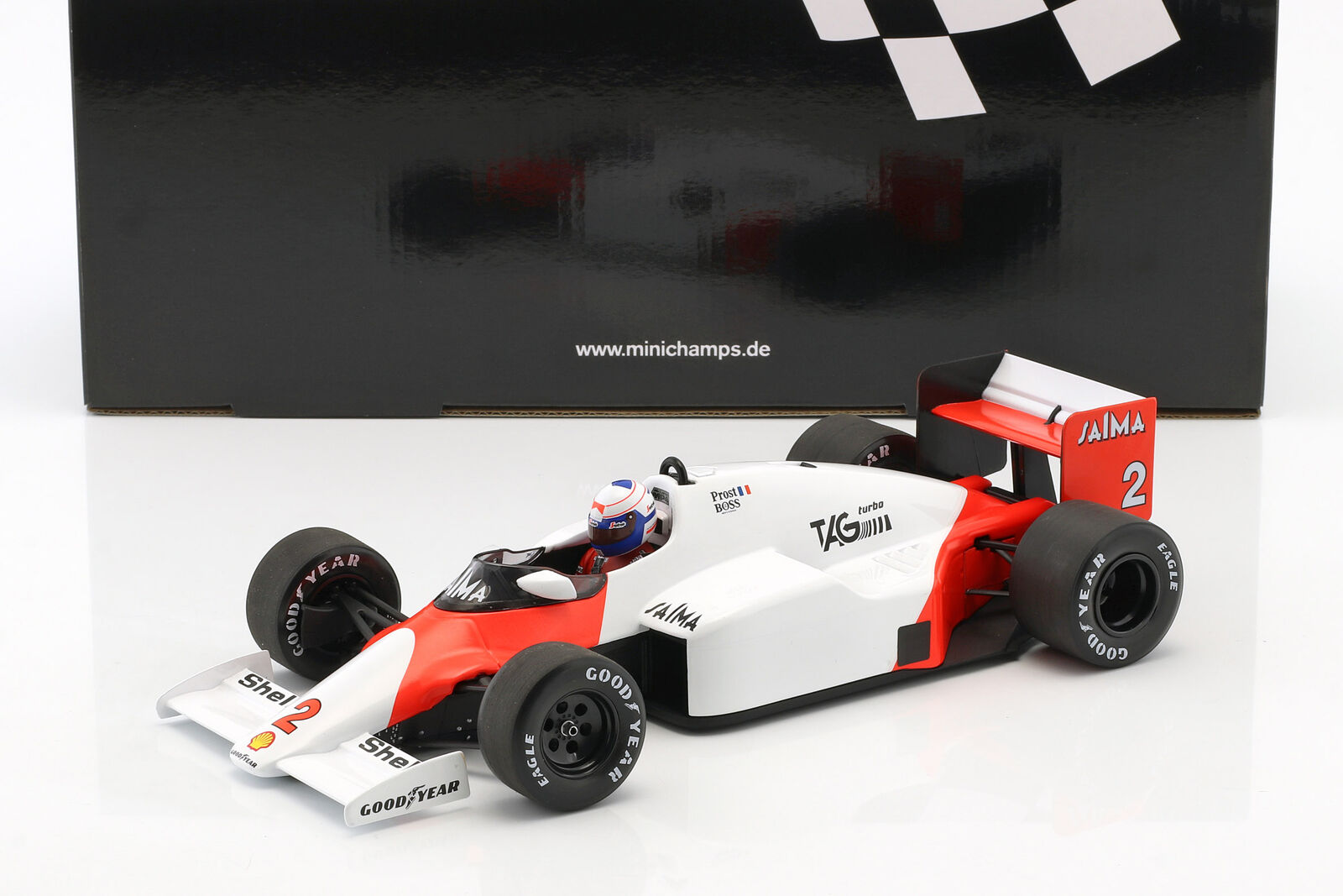 Alain Prost McLaren mp4 2b  2 2 2 World Champion Formule 1 1985 1 18 Minichamps 9dac67