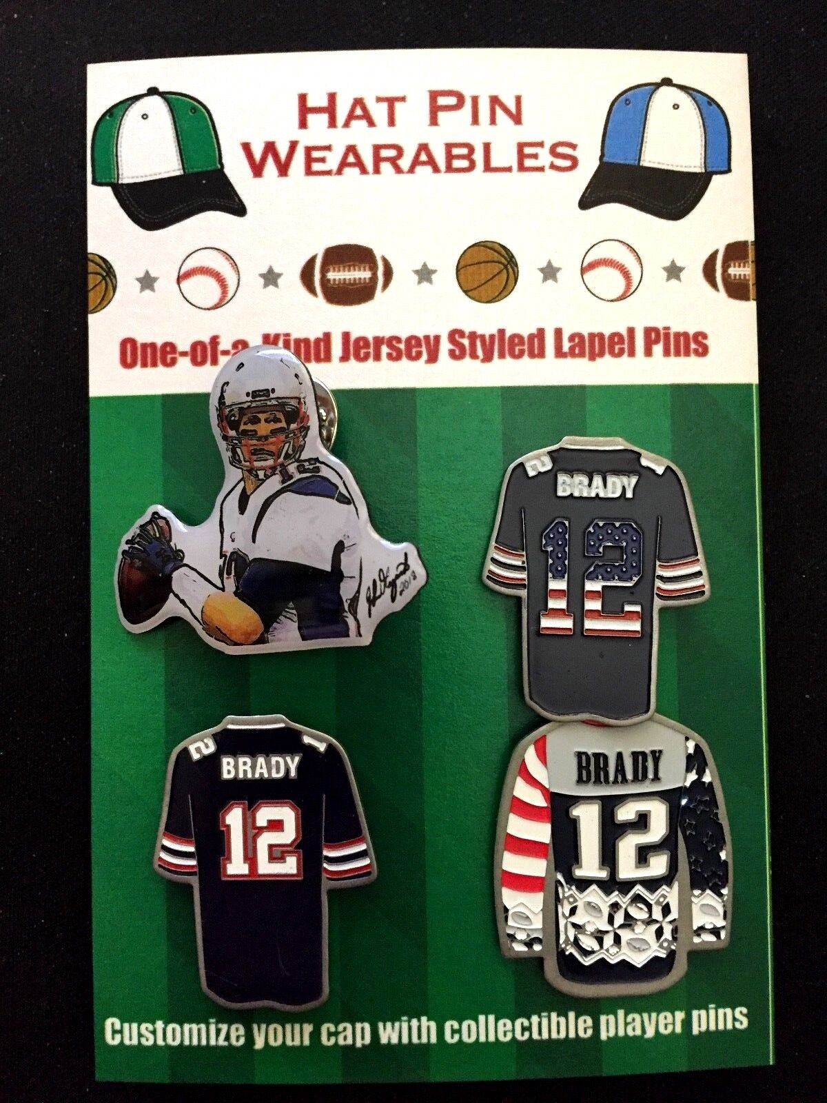 New England Patriots Tom Brady Revers Pins-Patriots Nation Ultimate Collectibles Collectibles Collectibles a33e9e