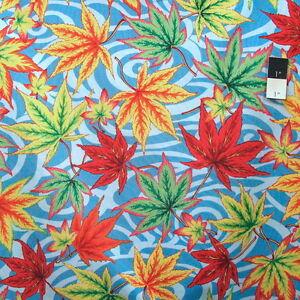 Fabric By The Yard Black FreeSpirit Fabrics Philip Jacobs Maple Stream Fabric