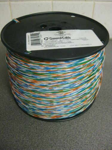 1000ft General Cable Tinned Copper Cross Connect Wire 24AWG 2.5PR 2 Pair+1