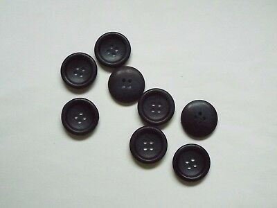 8pc 20mm Cosmos /& Navy Blue Faux Wood Coat Suit Cardigan Knitwear Button 5003