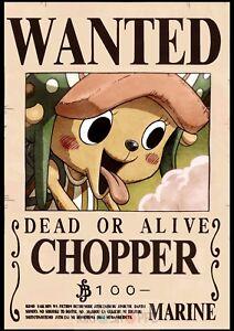 Poster A3 One Piece Chopper Poster Se Busca Belohnung Neu Bounty