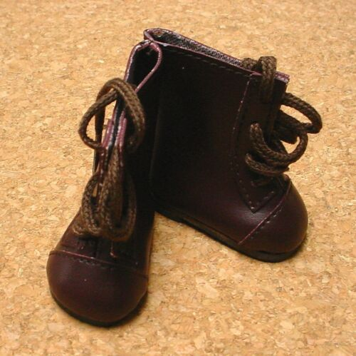 Doll Shoes 58mm DARK BROWN Lace-Up Boots