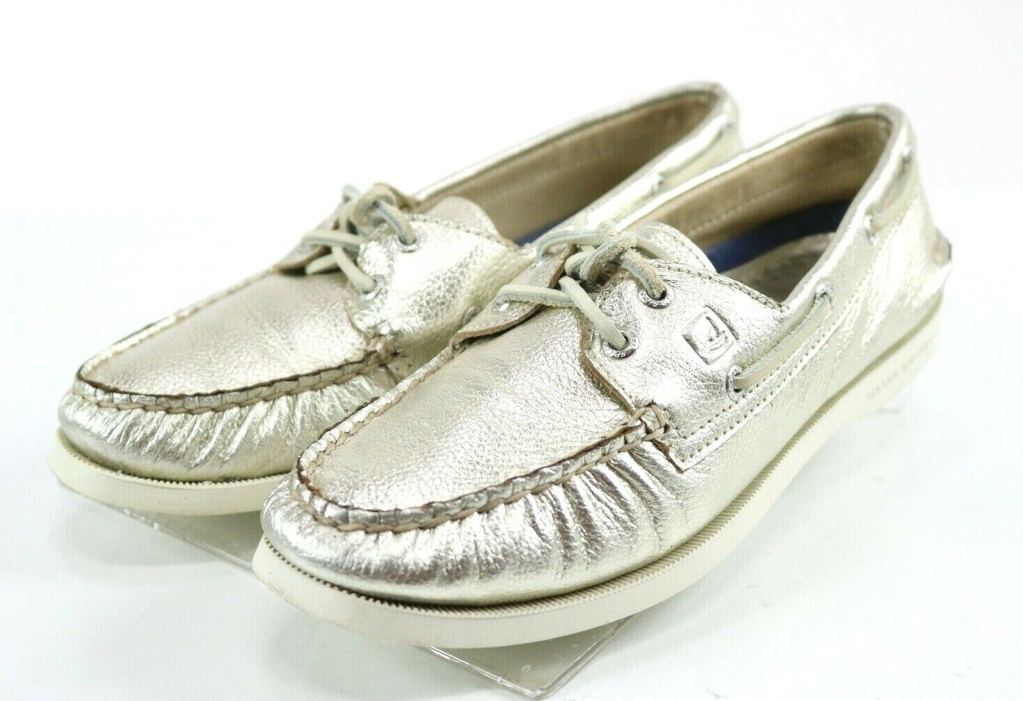 Sperry Top-Sider Authentic Original Women's Boat Shoes Size 8 Metallic Gold