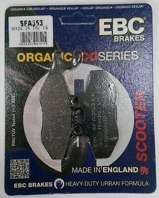 FIT PIAGGIO  Xevo 250 ie 07/>10 EBC FRONT ORGANIC BRAKE PADS