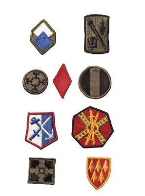 9 Us Army Patch Set La Raccolta Usa Military Uniform Vintage Ricamate-mostra Il Titolo Originale Ad Ogni Costo