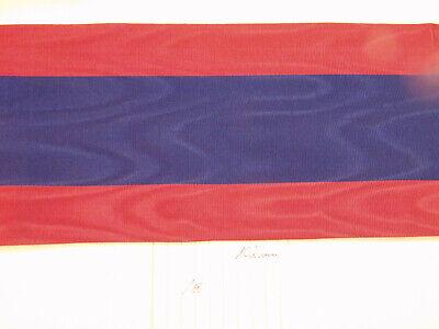 0004 Ordensband für Schärpe rot grün 74mm 1 meter