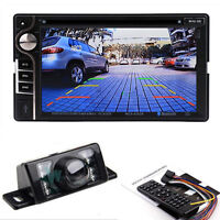 """Camere + Bluetooth 2 Din 6.2"""" HD Stereo Car CD DVD Player Touch Screen TV Radio"""