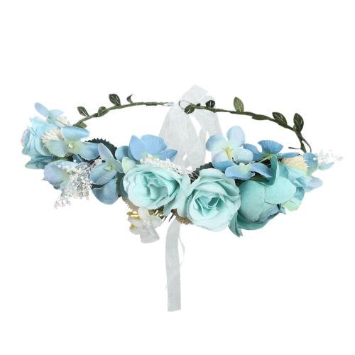Bridal Flower Crown Floral Women Hairband Headband Wreath Garland Party Wedding