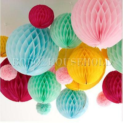"8""/10"" Party Lanterns Decoration Tissue Paper Honeycomb Balls Wedding Table"