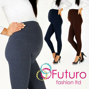Thick-Heavy-amp-Warm-MATERNITY-Cotton-Leggings-Full-Ankle-Length-Sizes-8-22