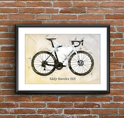 Eddy Merckx ❤ CYCLING ❤ bike poster art Limited Edition Print 5 sizes #32
