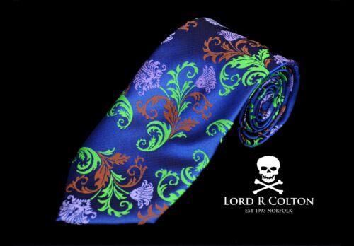 New Positano Coastal Blue Floral Silk Necktie Lord R Colton Masterworks Tie