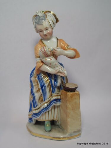 18th Century GERMAN PORCELAIN MOTHER & BABY FIGURINE figure THURINGIAN