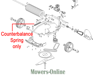 Details about Hayter Height Adjust Counterbalance Spring 410050 Spirit  Harrier 41 48 56 Ranger