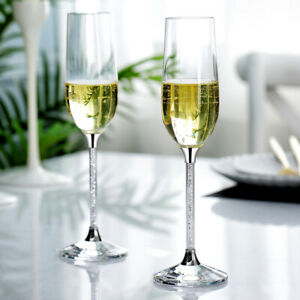 Champagne-Flutes-filled-with-Crystal-From-Swarovski-Gift-Box-Pair