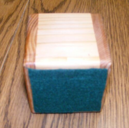 Solid Wood Bed Lifter Desk Riser Set of 4 For 4 x 4 Furniture Leg Felt Lining