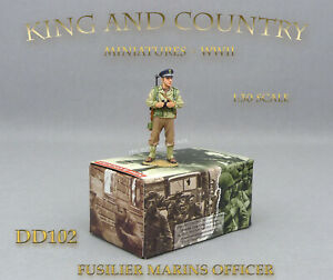 King-and-amp-Country-DD102-FUSILIER-MARINS-OFFICER-NEUF-NEW