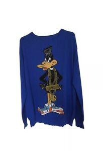 Ponticello di raro Jeremy Scott lana 10 Blue Couture Uk di Moschino taglia Duck Daffy r8fTxrpq