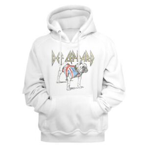 Def-Leppard-British-Bulldog-White-Pullover-Hoodie-Heavy-Metal-Music