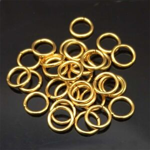 100PCS-3-5MM-10MM-DIY-Making-Jewelry-Findings-Stainless-Steel-Jump-Rings-Gold