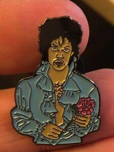 Prince-Rogers-Nelson-enamel-pin-blue-shirt-rose-flower-retro-80s-90s-funk-rock