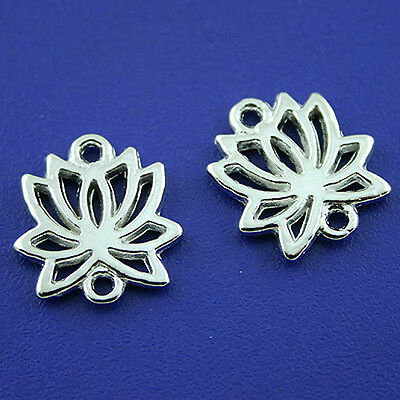 20pcs Tibetan silver lotus charms Findings h1689