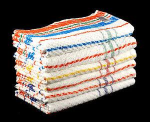 Economici-e-Vivace-te-e-Asciugamani-Set-100-Cotone-Multicolore-A-righe-Uk