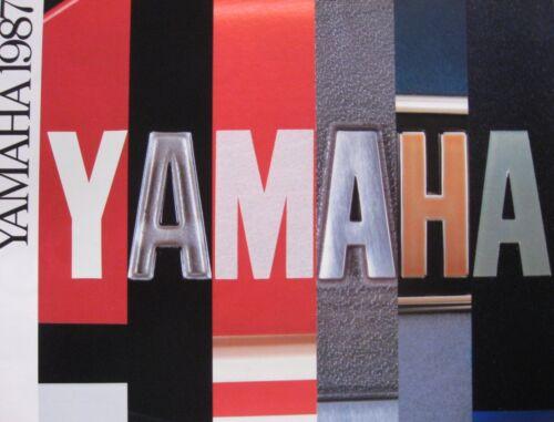 Original 11119-04-15 1987 Yamaha Full Line Motorcycle Brochure