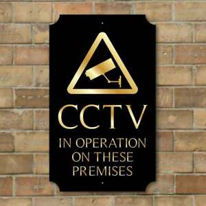 cctv sign robust outdoor security sign protect premises camera