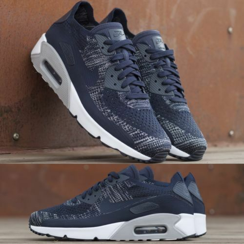 Nike Air Max 90 Ultra 2.0 Flyknit 875943 401  College Navy Men's Running shoes