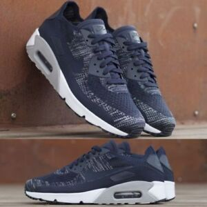 Details about Nike Air Max 90 Ultra 2.0 Flyknit 875943 401 College Navy Men's Running Shoes