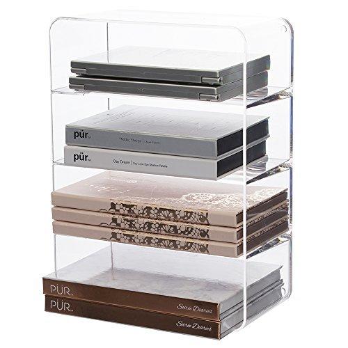 Clear Plastic Makeup Palette Vanity Organizer 4compartments