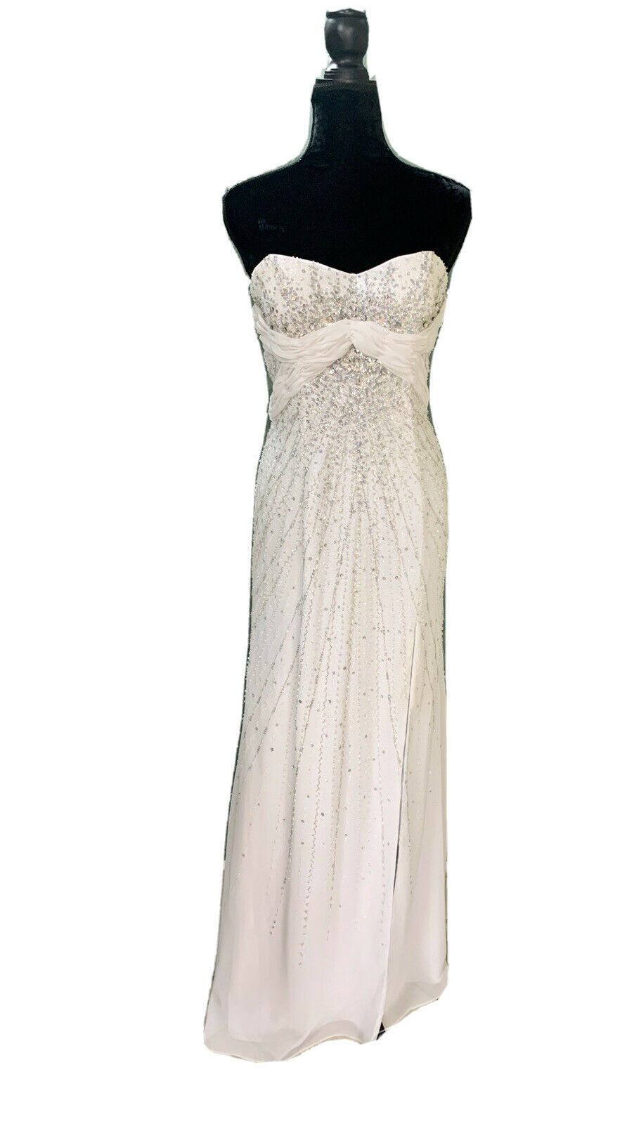 10 White Prom Party Homecoming Dance Pageant Formal Evening Gown Wedding Dress
