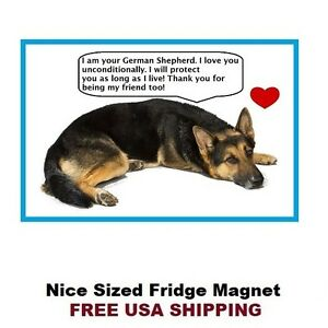 Beware of German Shepherd Dog Breed Cute Refrigerator Magnet