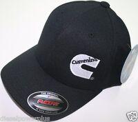 Cummins Hat Ball Cap Fitted Flex Fit Flexfit Stretch Cummings Dry Black Wicking