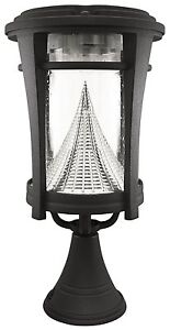 solar outdoor led light fixture lamp deck lighting for post pole wall. Black Bedroom Furniture Sets. Home Design Ideas