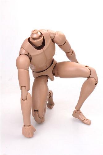 1:6 Male Action Figure MX02 B Asian Skin Muscular Man Body F Hot Head Sculpt
