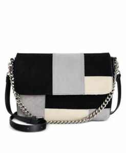 Image Is Loading Giani Bernini Handbag Suede Patchwork Lg Flap Colorblock