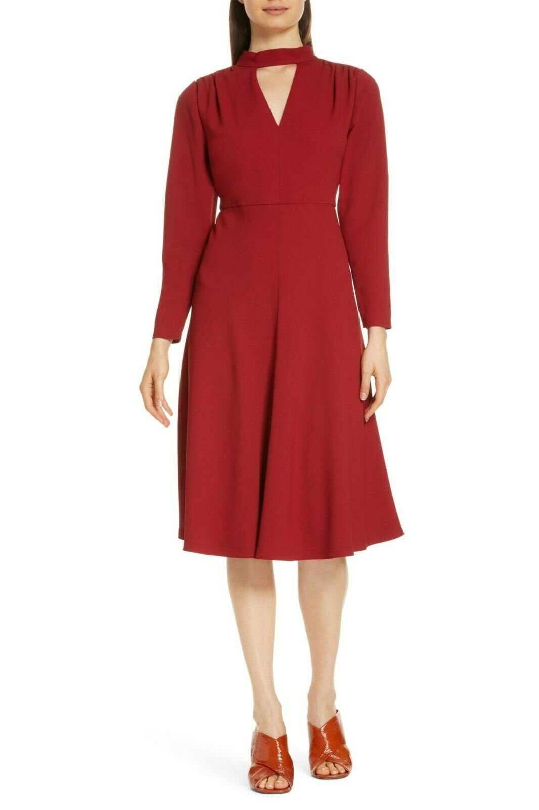 Lewit rot Dahlia Fit & Flare Dress Größe 6 Originally