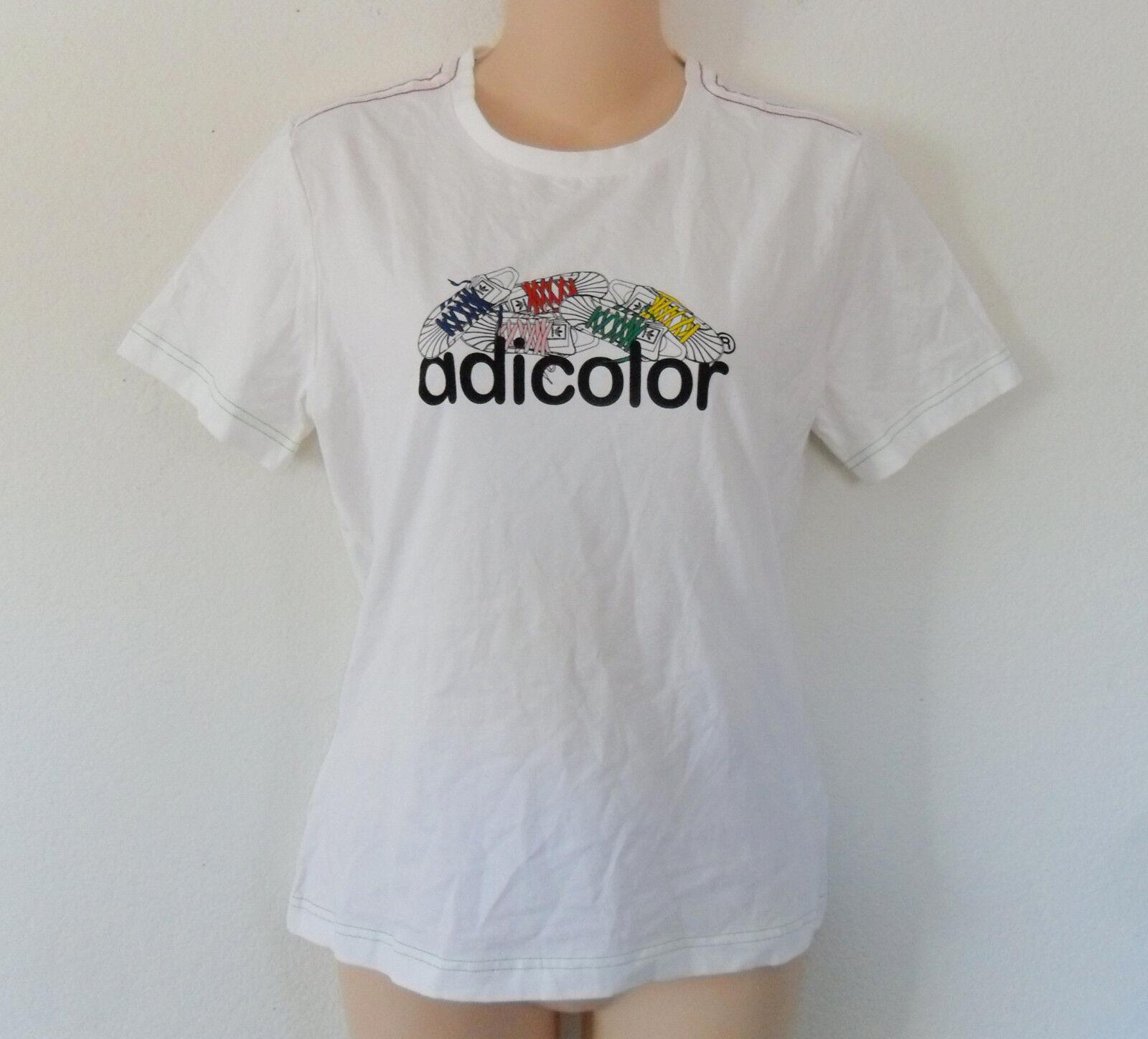 quality design d4d68 86ad4 Limited Ed adidas Adicolor W5 & Bk5 Superstar Graphic Tee T-shirt Top Women  Sz M