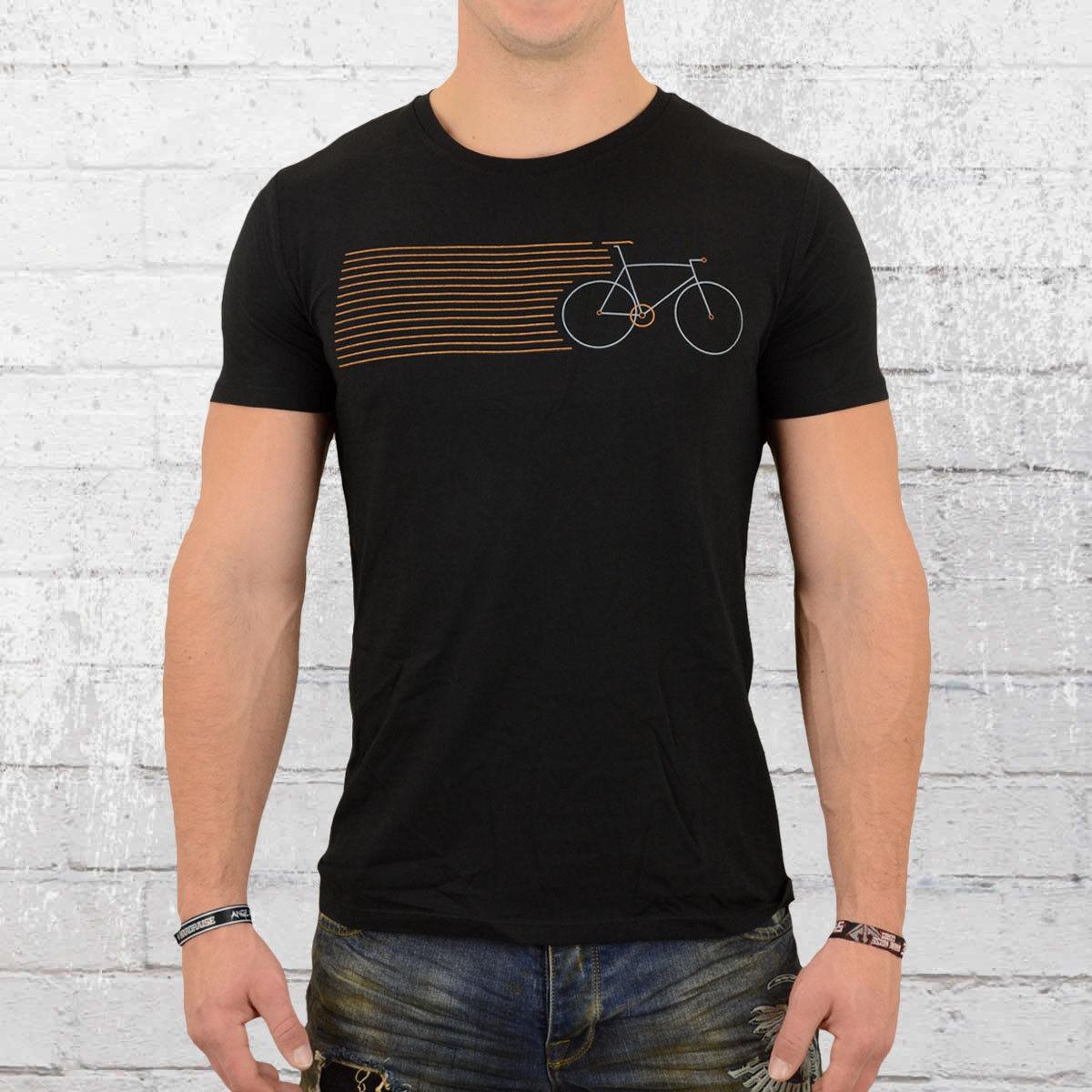 Grünbomb Herren T-Shirt Bike Stripes schwarz Männer Tshirt Fahrrad Bicycle   Sehr gute Qualität    Klein und fein    Vielfältiges neues Design