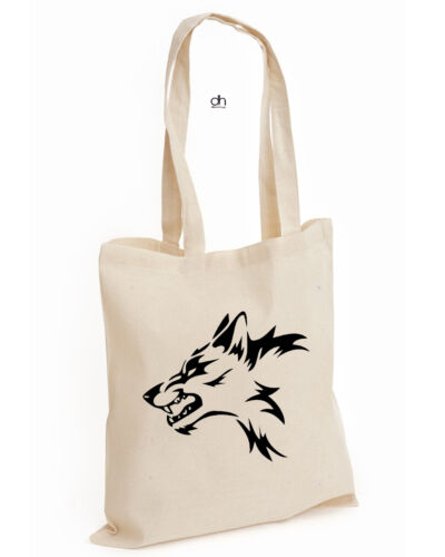 TRIBAL WOLF MMA COTTON TOTE TRAIN BEAST BODYBUILDING GYM WORKOUT UFC TRIBAL,BAG