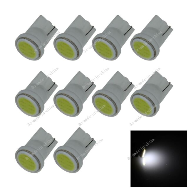 10X Car White 1 LED COB SMD T10 W5W Wedge Side Light Bulb Lamp A068