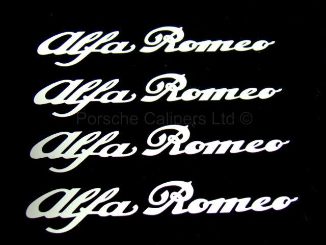 4x 86mm ALFA ROMEO WHITE Brake Caliper Decal Stickers High Temp