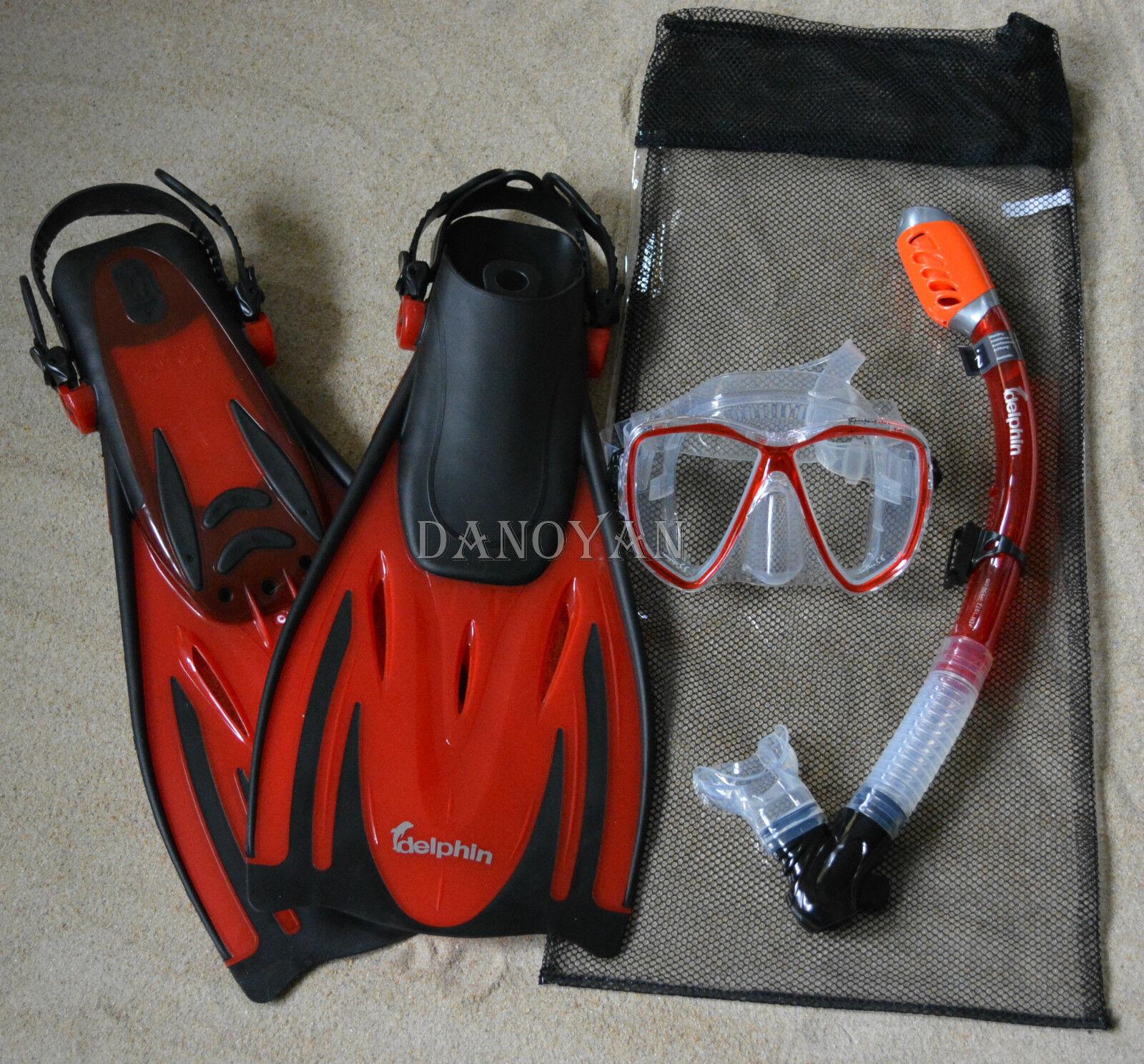 Profi Tauch und Schnorchelset Delphin NEU +Transporttasche aus Netzstoff 42 - 45  | Qualität zuerst