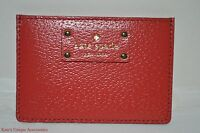 Kate Spade Graham Wellesley Cherryliqr Patent Leather Credit Card Case Wallet